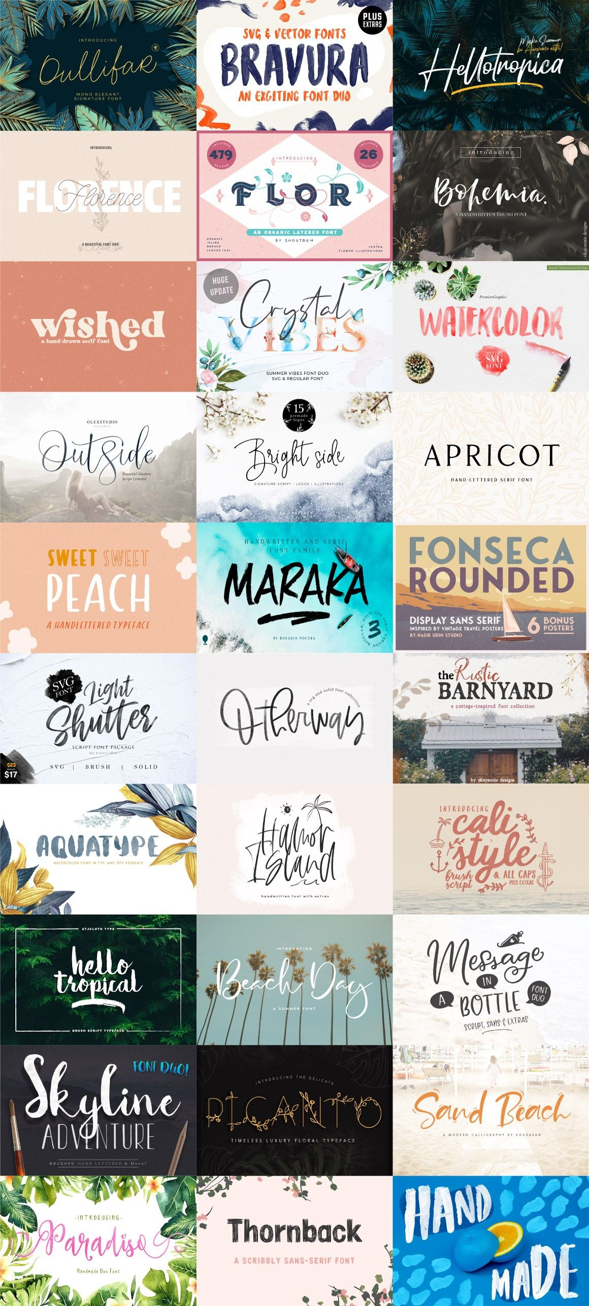 SFFB Products.jpg Font bundles, Cool fonts, Summer fun