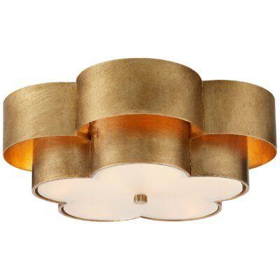 Tilden Large Flush Mount Brass Visual Comfort Lighting Visual Comfort Flush Mount