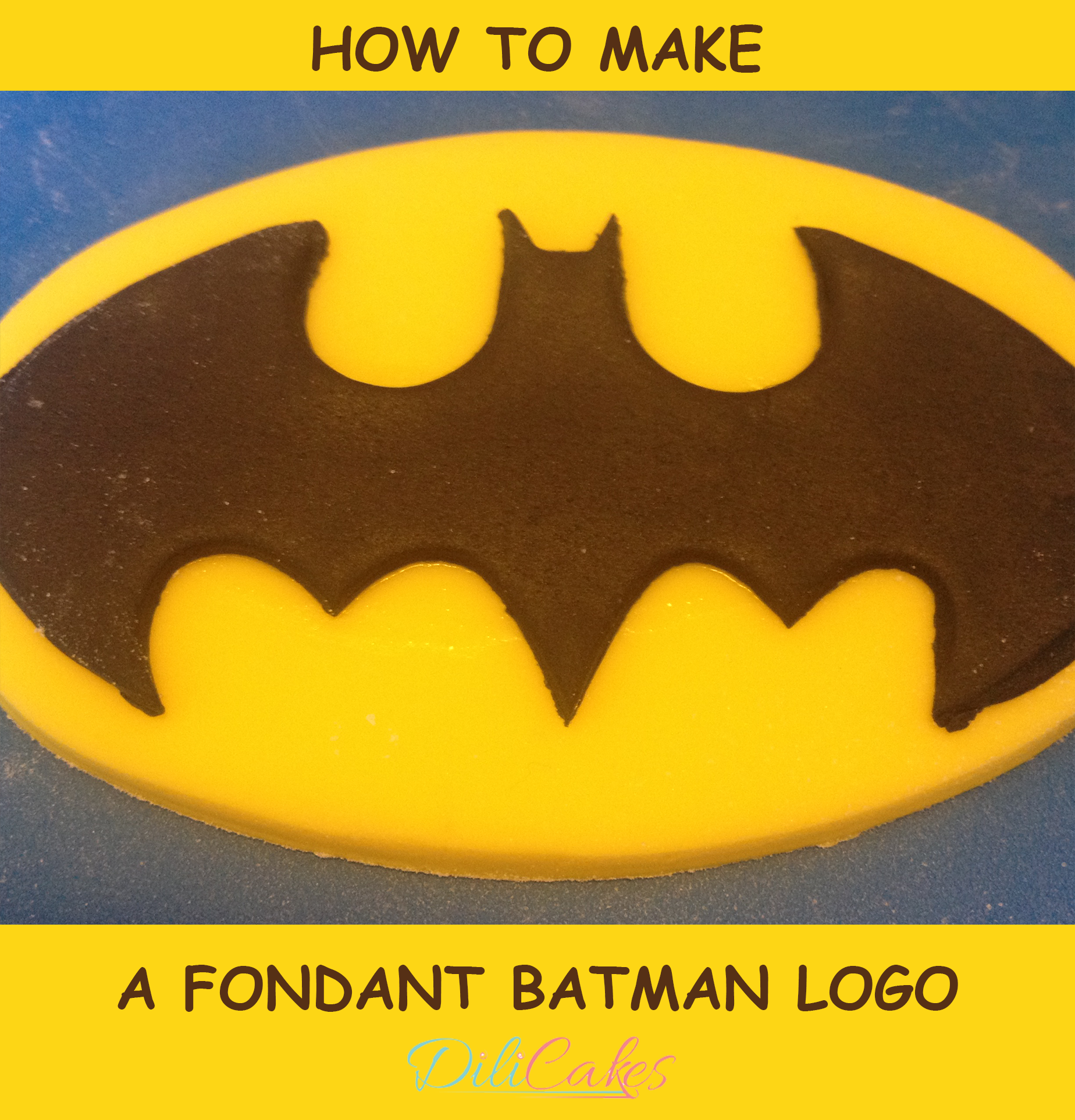 batman logo cake template - how to make a fondant batman logo for your cakes and