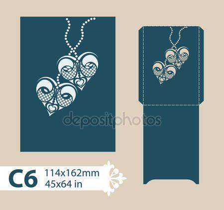 Descargar - Envolvente de felicitación de plantilla con el patrón calado tallado — Ilustración de stock #109255752