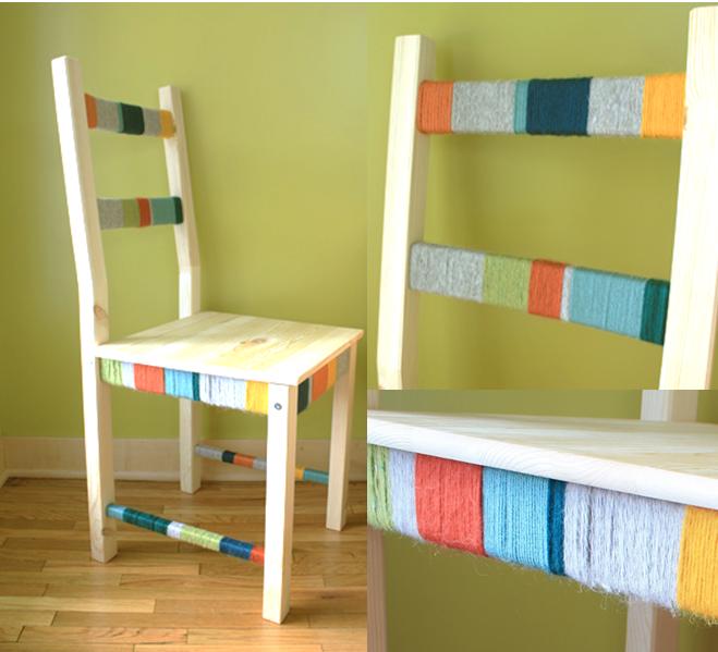 DIY : personnaliser la chaise Ivar Ikea