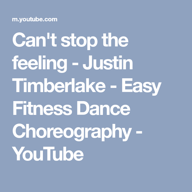 CanT Stop The Feeling  Justin Timberlake  Easy Fitness Dance