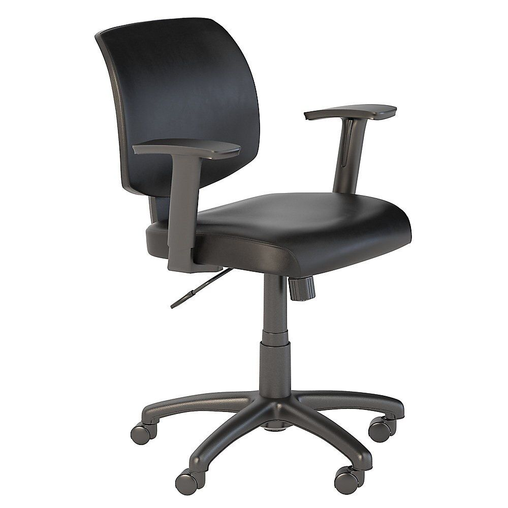 Bush Business Furniture Petite Leather Office Chair Black