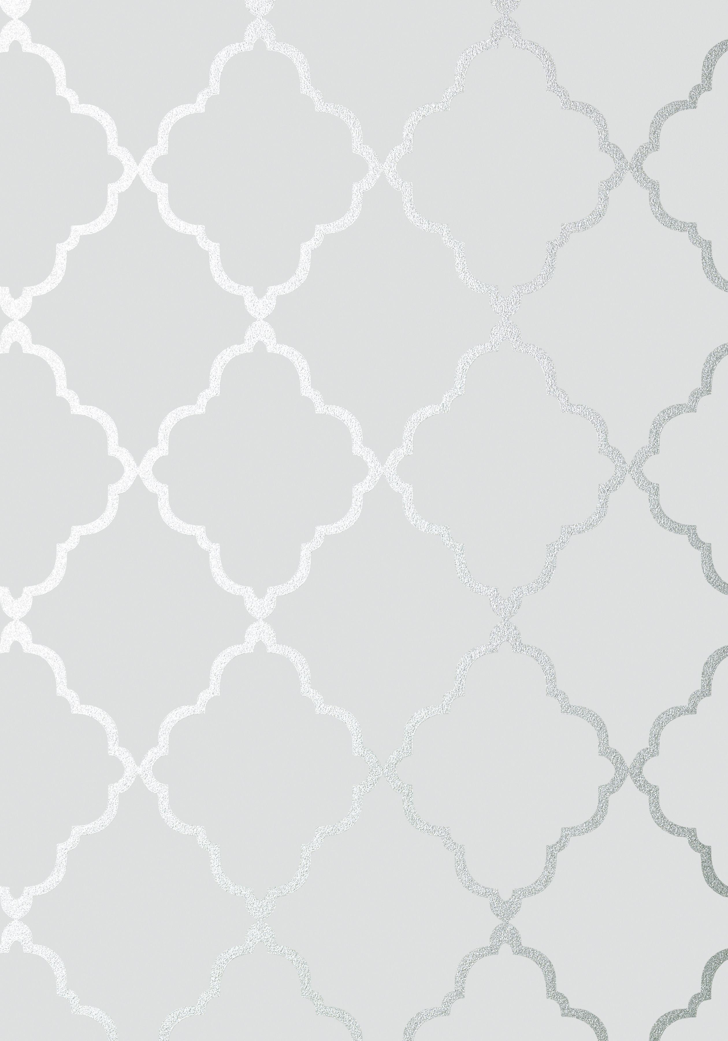 KLEIN TRELLIS, Silver on Grey, AT6057, Collection