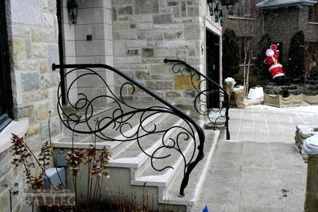 Wrought Iron Stairs On Wrought Iron Railing Fall Branches Battig