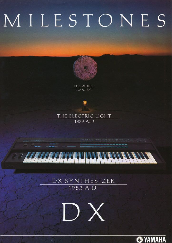 YAMAHA DX-7 1983 This poster STILL hangs in my studio