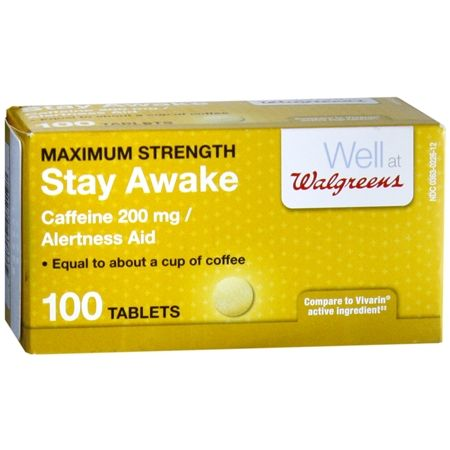 Walgreens Stay Awake Caffeine 200 Mg Alertness Aid Tablets How To Stay Awake Awake Walgreens