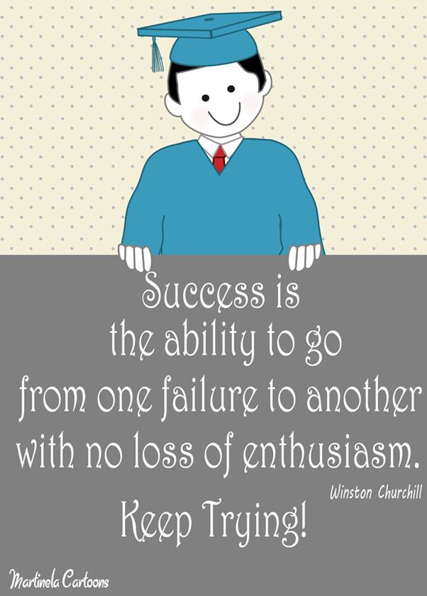 Inspirational Graduation Quotes By Martinela Cartoons. Success