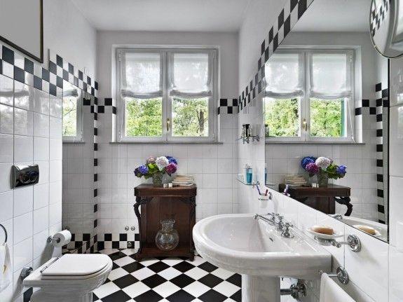 AuBergewohnlich Warum Nicht Mal Schwarz Weiß? Und So Wird Aus Einem Gewöhnlichen, Weißen Bad