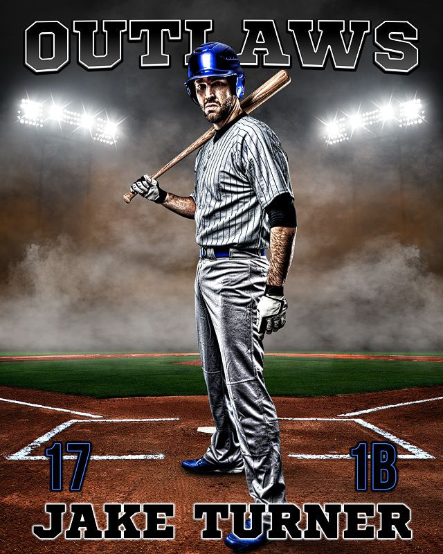 Sports Poster Photo Template Up In Smoke Baseball Layered Photoshop Sports Template Sport Poster Photo Template Fantasy Baseball