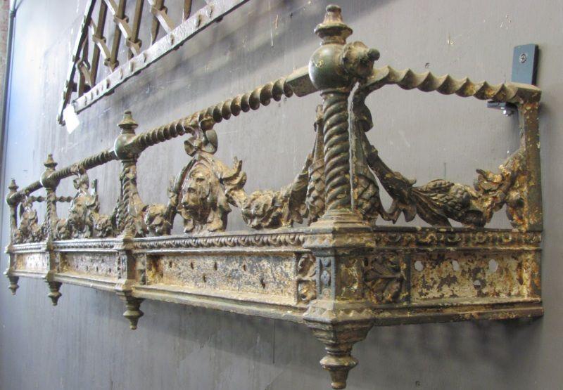 Finnegan Gallery - Rare English Regency Iron Wall Planter ... on Iron Wall Vases id=74771
