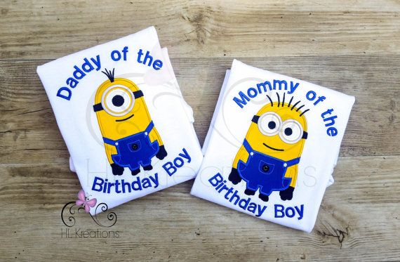 Minion Mom And Dad TShirts Birthday Shirt By HLKreations 2nd