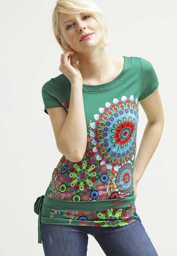 210e10ffe52 Desigual-DONNA---Camiseta-print---verde-nantes