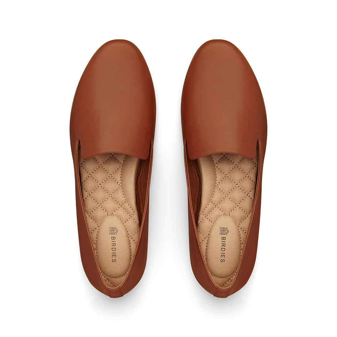 The Starling Cognac Leather In 2020 Brown Leather Flats Leather Womens Flats