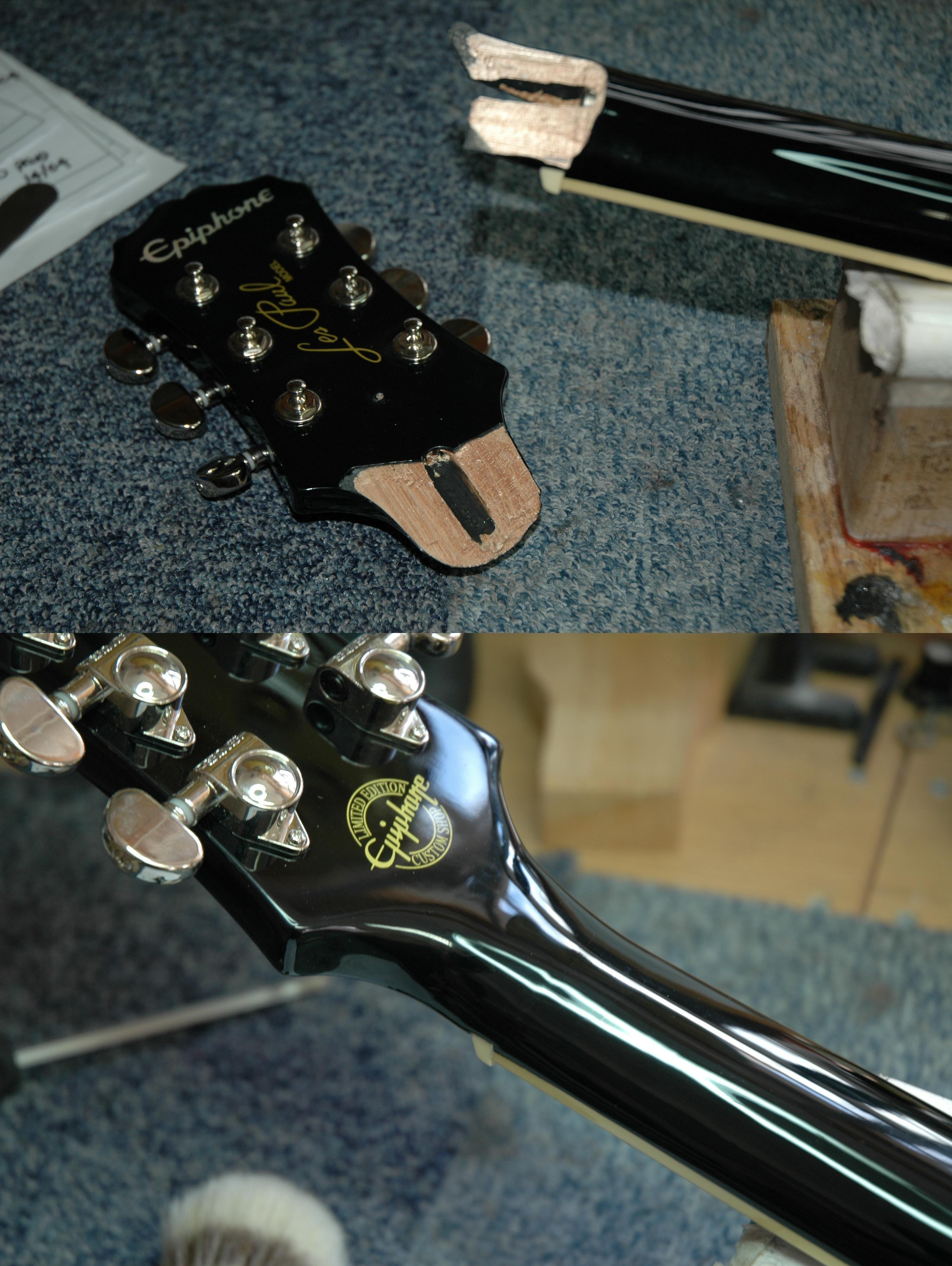Pin By Charles James On Guitar Repairs Epiphone Epiphone Les Paul Repair