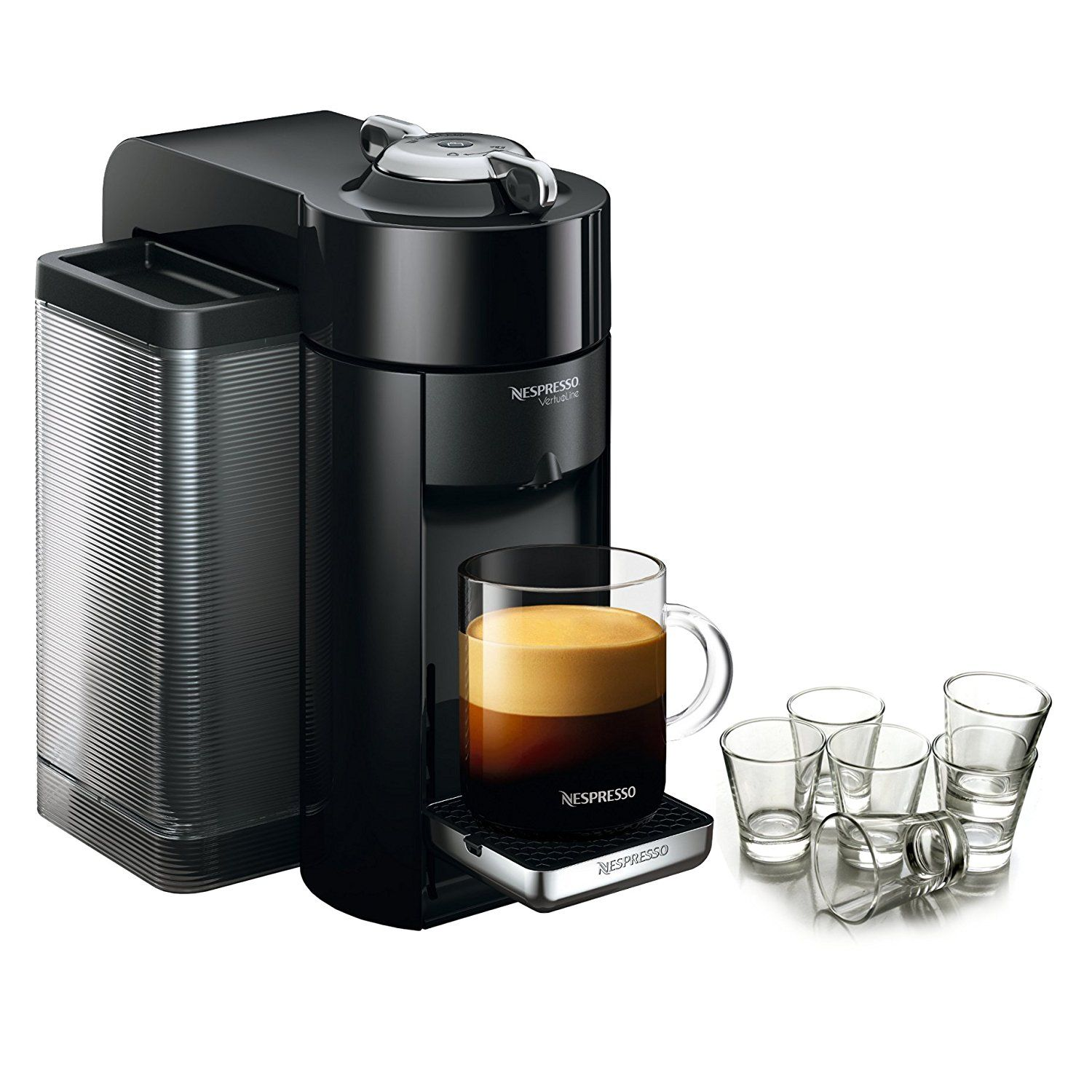 Nespresso VertuoLine Evoluo Deluxe Piano Black Coffee and