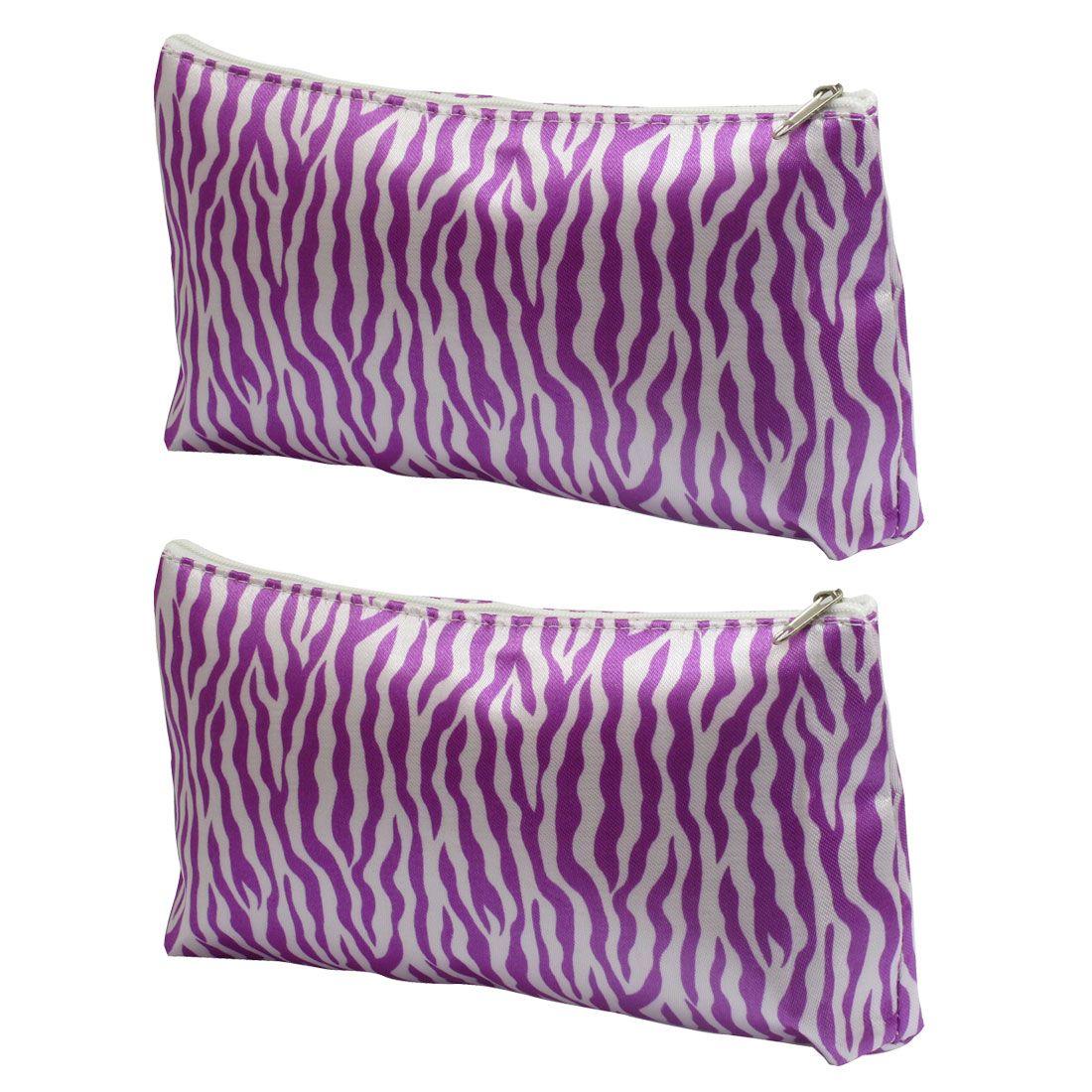 Zebra Cosmetic Bags Wholesale Pocket Zipper Closure