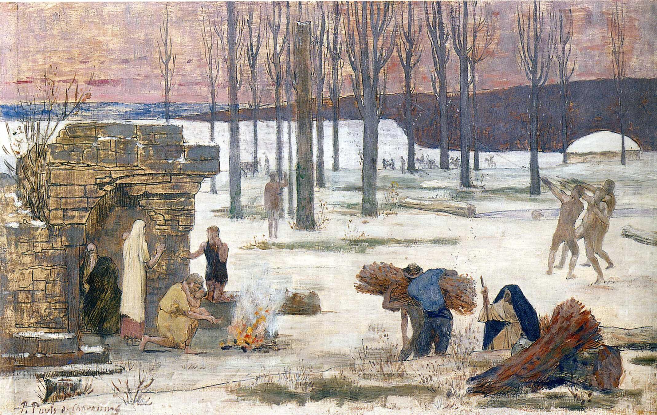 Winter - Puvis de Chavannes