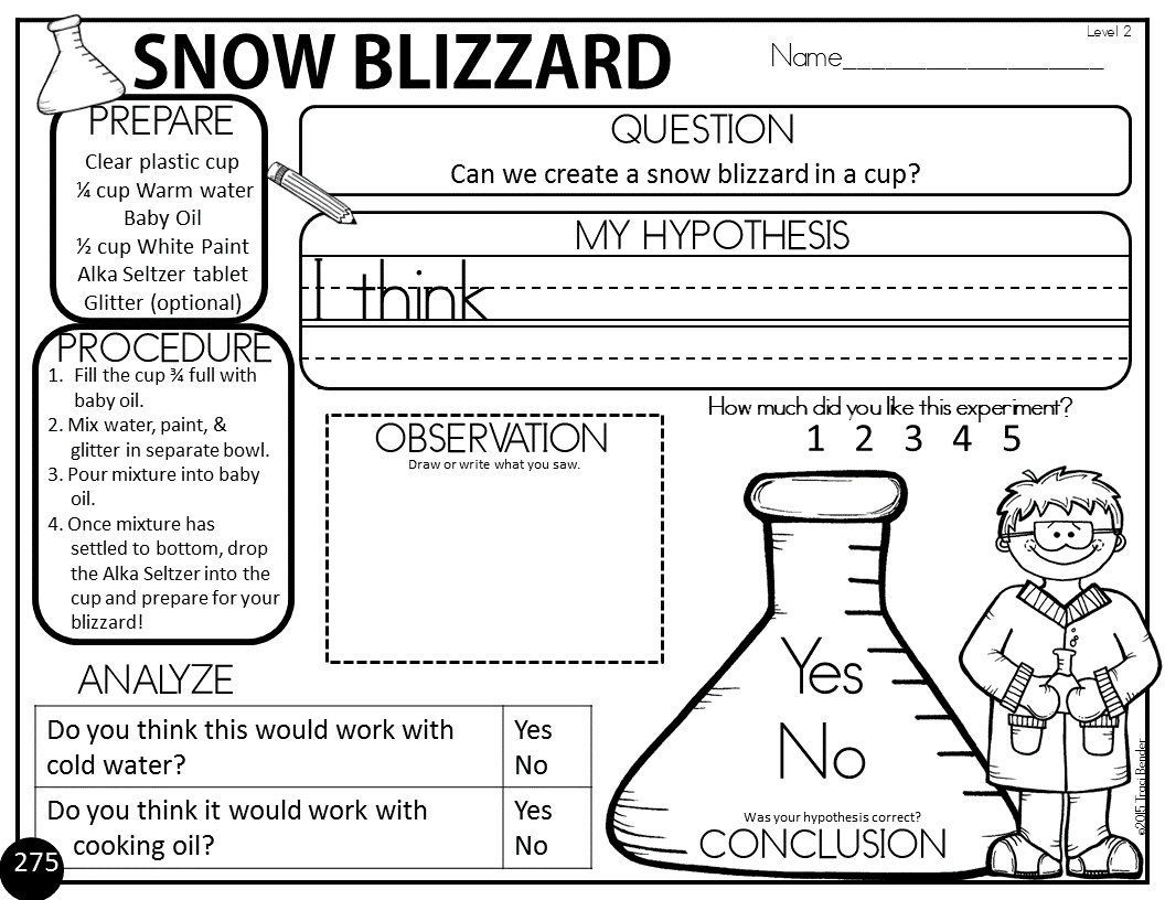 Easy Snow Blizzard Science Experiment