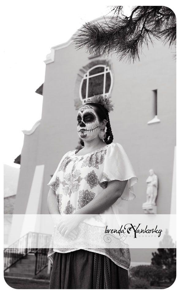 www.facebook.com/Brendayankoskyphotography   dia de los muertos female skull candy