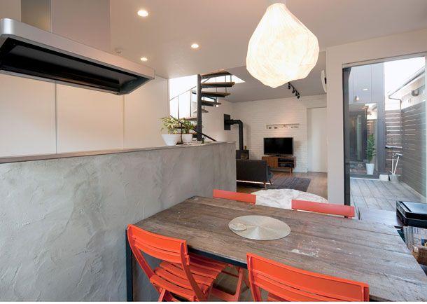 素材に拘ったオリジナル空間・間取り(豊中市)  ローコスト・低価格住宅   注文住宅なら建築設計事務所 フリーダムアーキテクツデザイン