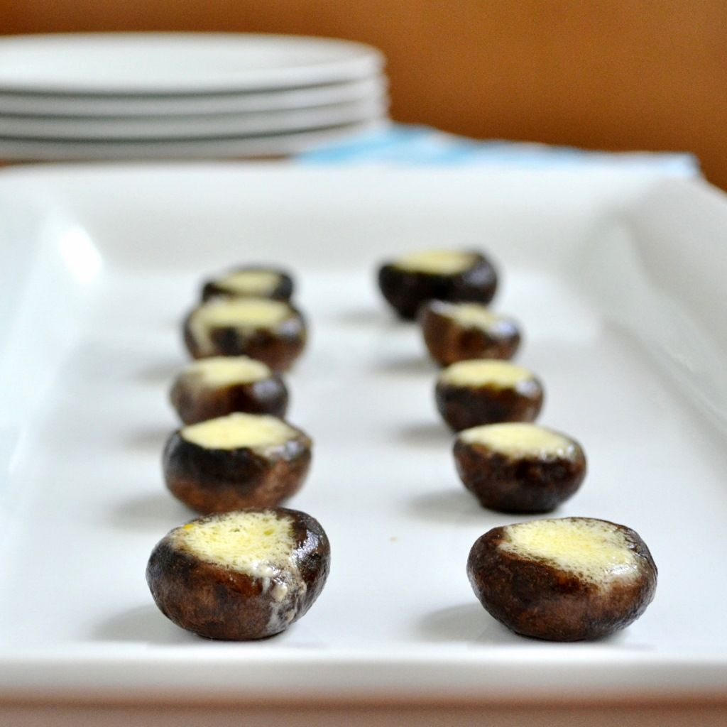 Citrus Parmesan Mushrooms from Real Food Real Deals