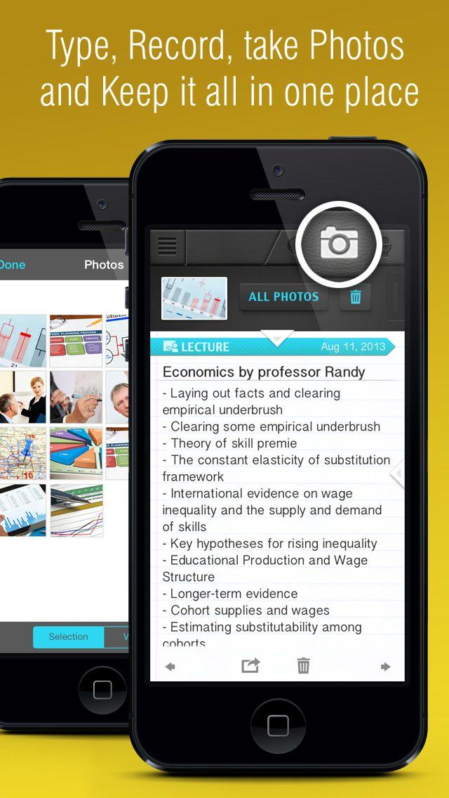 iPhone App Super Notes Recorder, Note, Memos, Photos