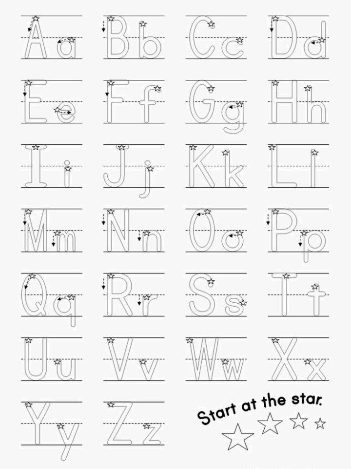 Beginner Writer ABCS  school ideas  Alphabet writing practice Alphabet worksheets Alphabet