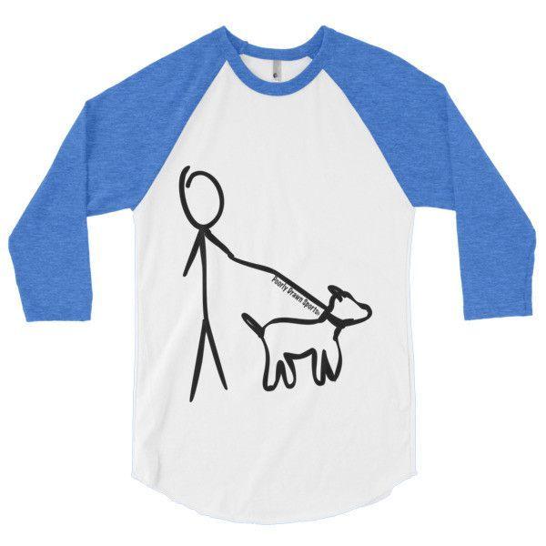 """Love Dogs"" 3/4 sleeve raglan shirt"