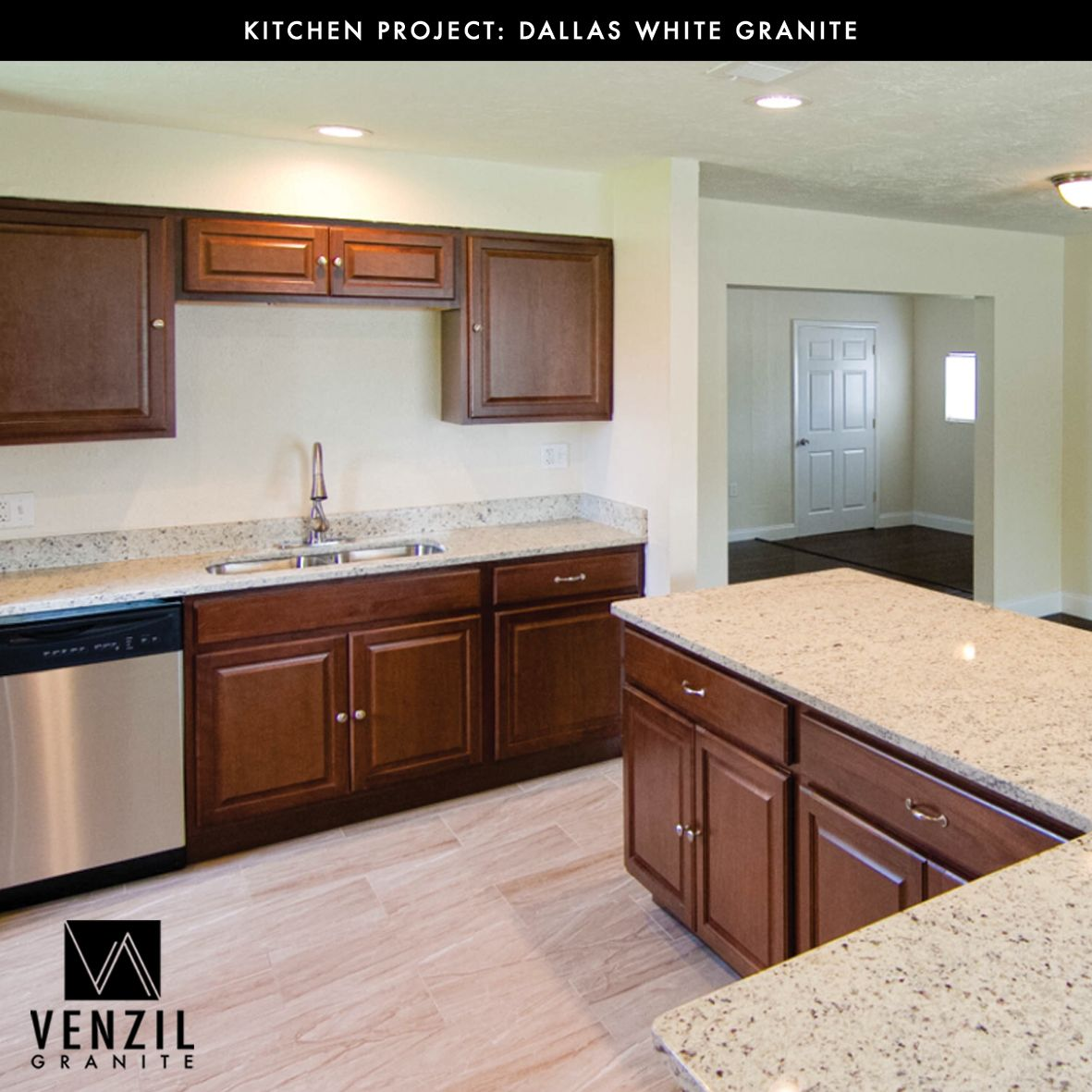 Dallas White Granite Countertops Kitchen Project Done By Team Venzil Contact Us We Fabricate And White Granite Countertops White Granite Granite Countertops