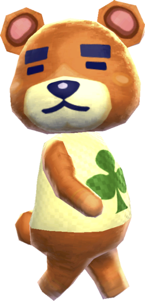 File Teddy Nl Png Animal Crossing Villagers New Leaf Animal