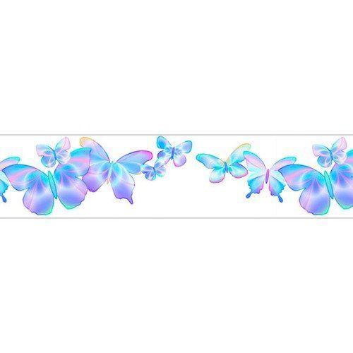4 Walls Fluttering Butterflies Free Style Border Wallpaper
