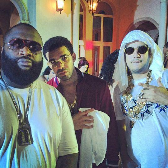 On Set Of French Montana, Drake, Rick Ross & Lil Waynes Pop That
