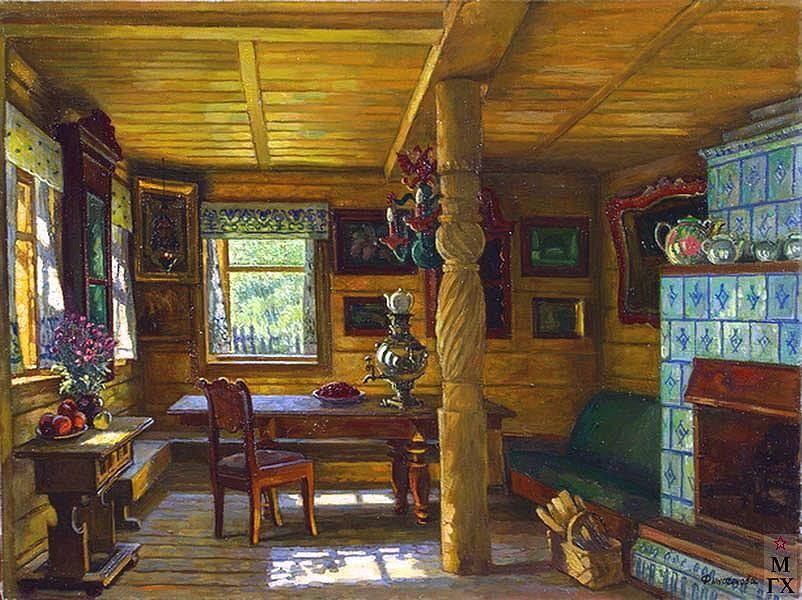 old-fashioned russian mostly wood kitchen | House paint ...