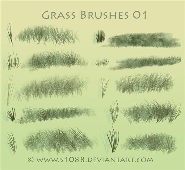 50++ Grass brushes info