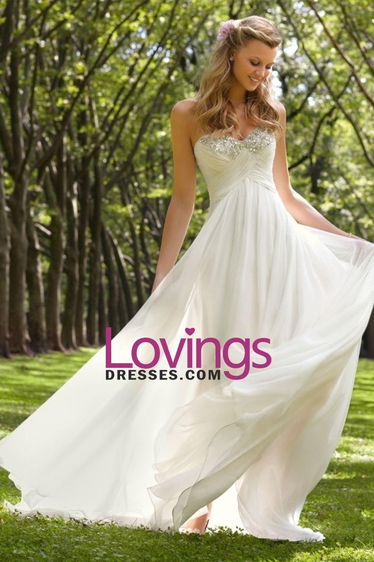 2013 Wedding Dresses Empire Waist Sweetheart Sweep/Brush Train Chiffon With Ruffles US$ 169.99 LDPQKYN8RS - lovingsdresses.com