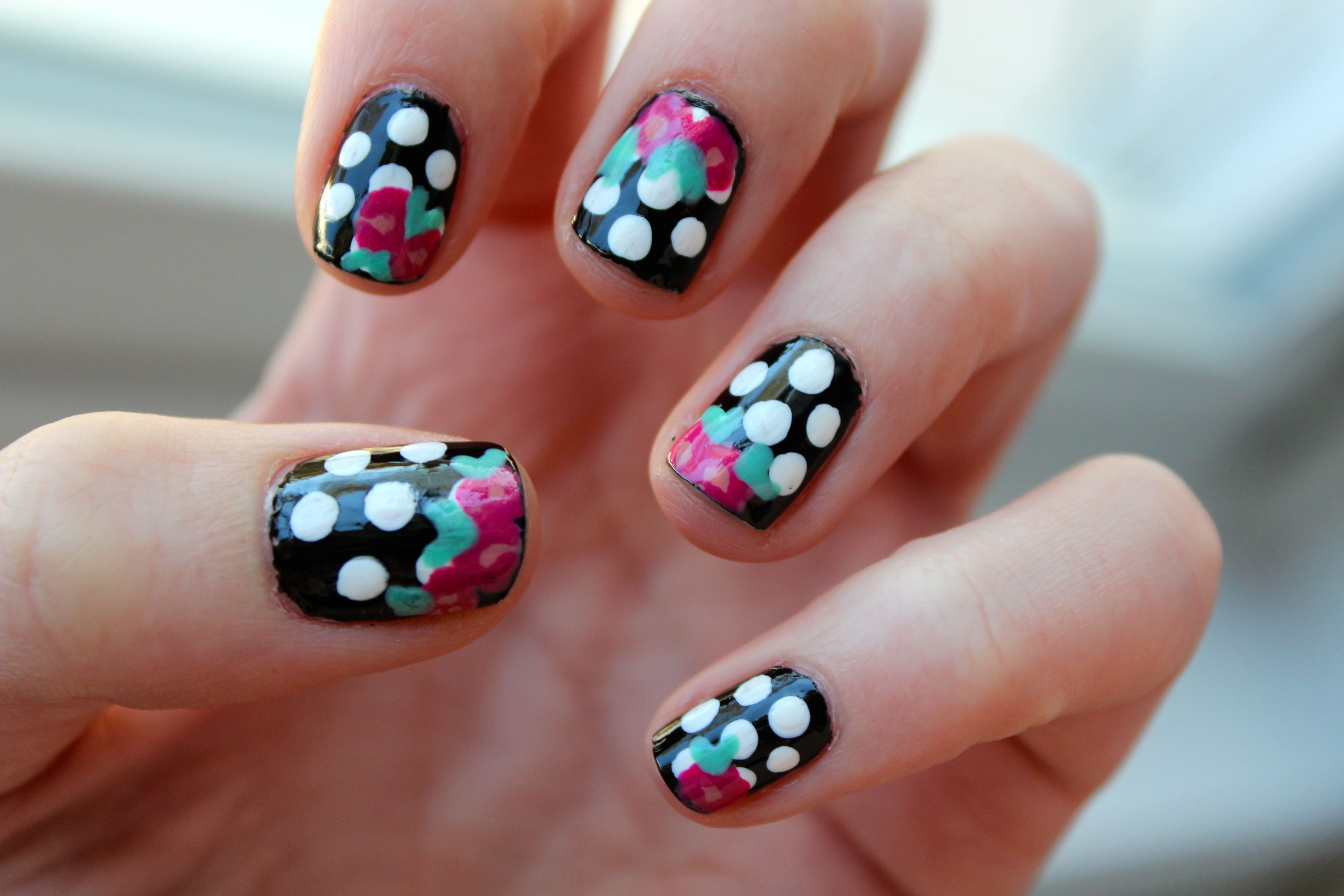 Polka dots and flowers :)