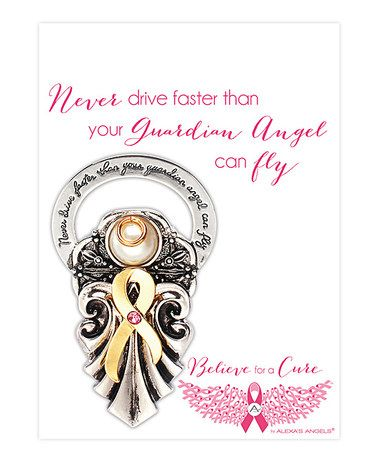 This Two-Tone 'Guardian Angel' Visor Clip is perfect! #zulilyfinds