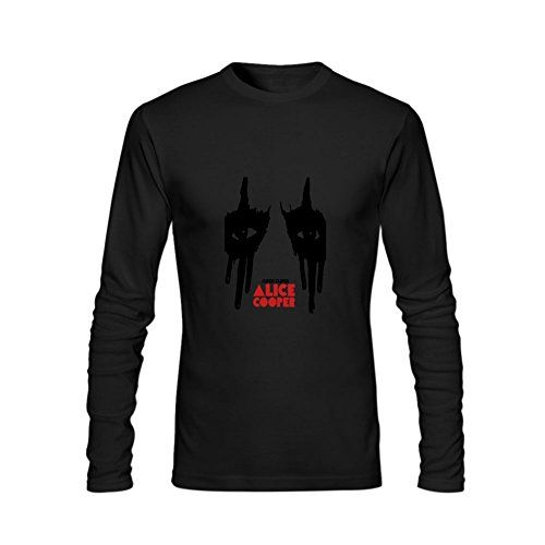 Chozy Men¡¯s DA Pop Rock Alice Cooper Long Sleeve Normal Fit Tshirt - http://bandshirts.org/product/chozy-men%c2%afs-da-pop-rock-alice-cooper-long-sleeve-normal-fit-tshirt/