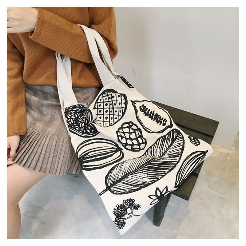 4605f850b Raged Sheep Women Men Shopping Bag Canvas Tote bags Reusable Cotton grocery  Handbags Webshop Eco Foldable Shopping Cart Trolley-in Shopping Bags from  ...