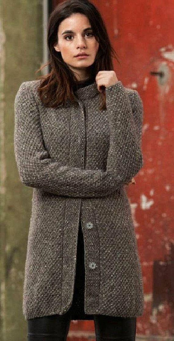 Coat/sweater coat by lida276 on Etsy | tejido | Pinterest | Jacken ...