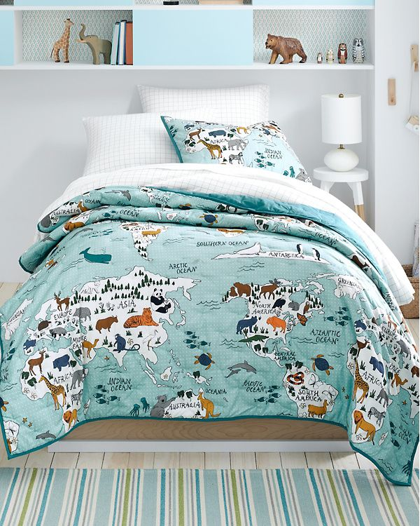 Perfect for a travel inspired bedroom. Hill Kids