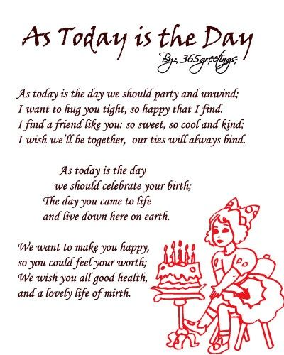 25 Exclusive Happy Birthday Poems Party Gear Birthday Poem For