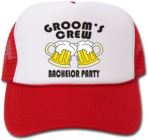 b10b5c91f27 Groom s Crew Bachelor Party Hat Cap by crests on Etsy