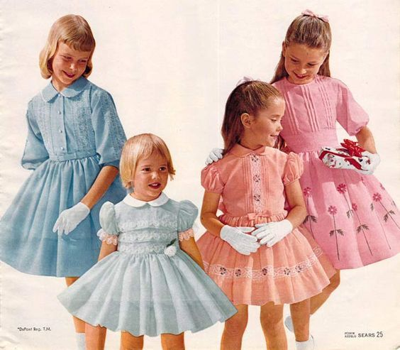 Vintage baby girl dress 1970s geometric 1 2 years