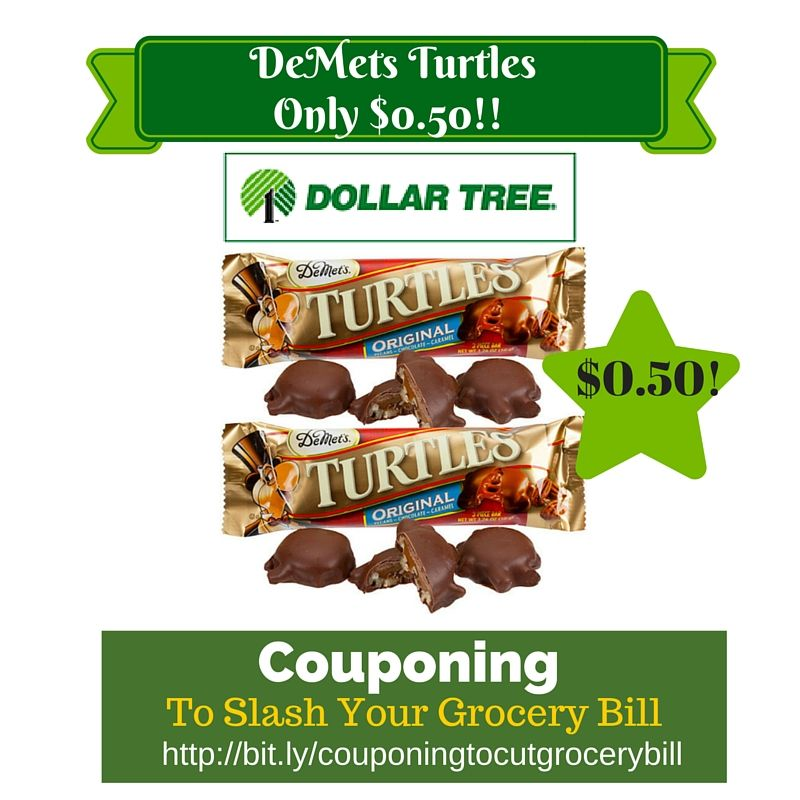 graphic regarding Printable Dollar Tree Coupons titled Greenback Tree Coupon Matchup: DeMets Turtles Simply just $0.50