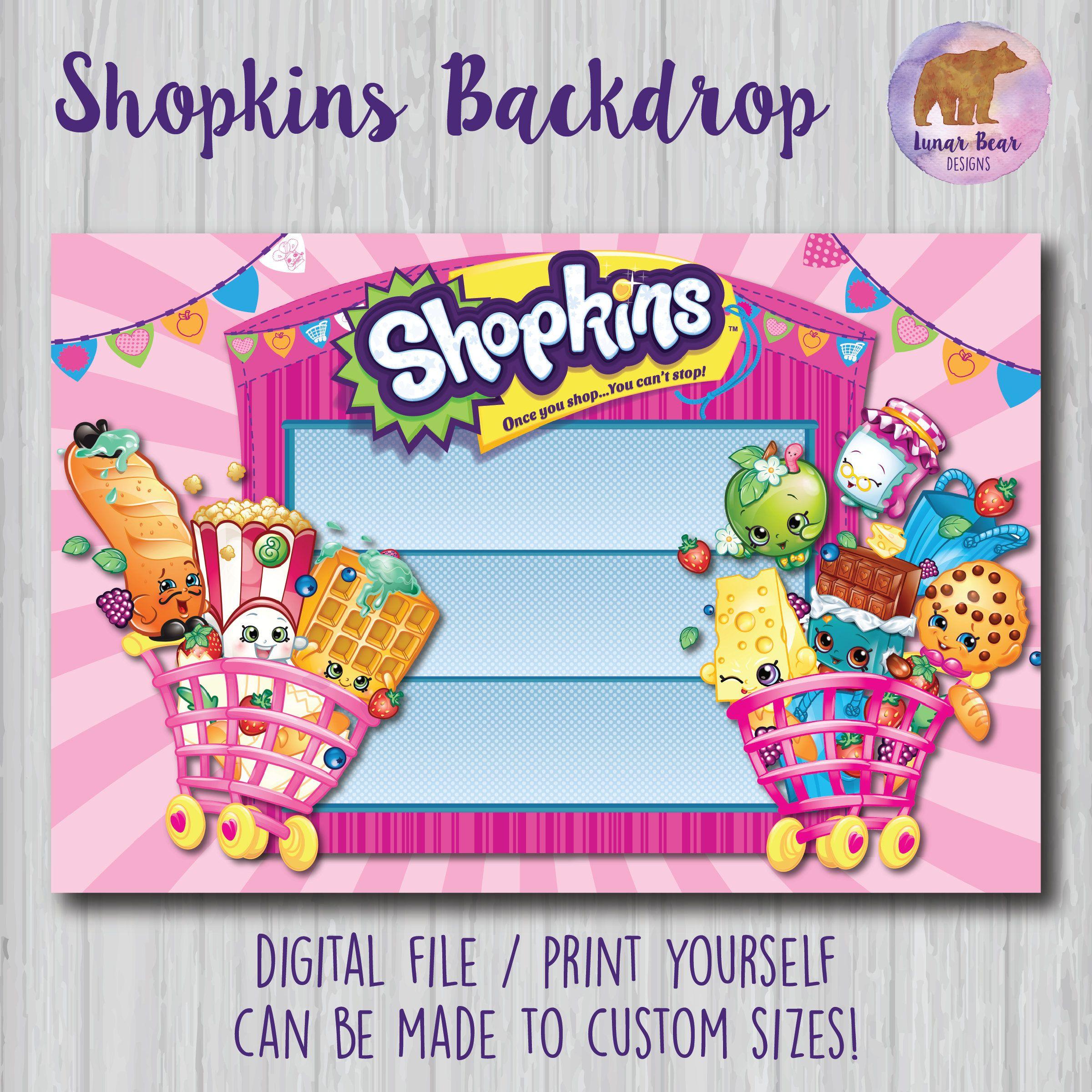 Shopkins Backdrop Shopkins Poster Shopkins Birthday Party