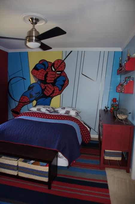 Pottery Barn Kids Spiderman Boys Bedroom Spiderman Bedroom Kids Bedroom Dream Boys Room Mural