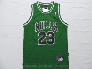 Chicago Bulls Jersey Michael Jordan  23 Green Jersey  J72   a42f210dc
