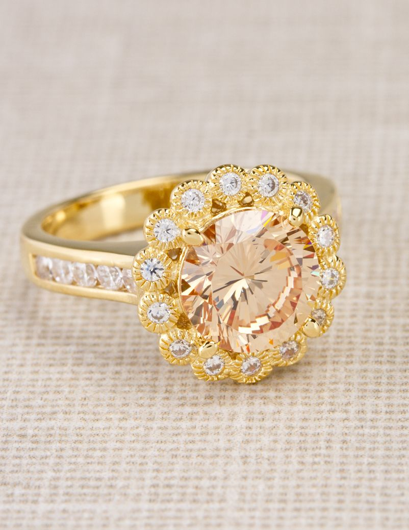 Relieve The Stress Of A Long Day With This Champagne Color Ring No Glass  Required